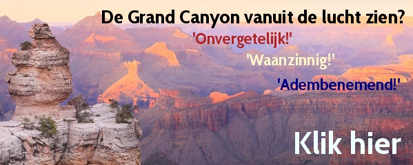 Vliegen over de Grand Canyon