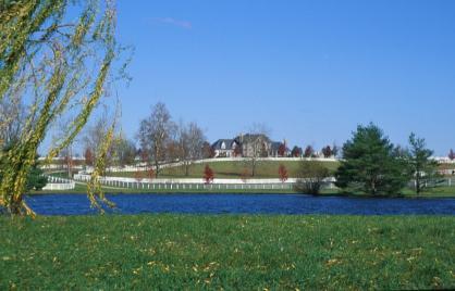 Landhuis en karakteristiek hek in Kentucky