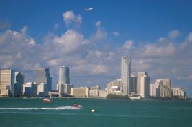 De skyline van Miami