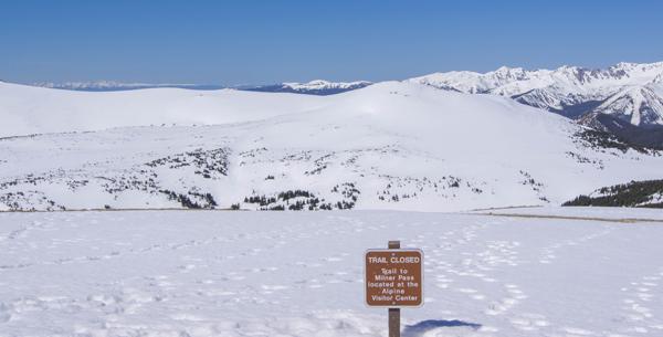 sneeuw in RMNP