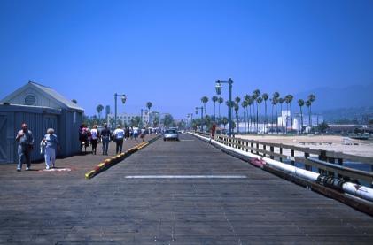 Bij het strand in Santa Barbara