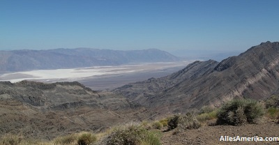 Uitzicht vanaf Aguerreberry Point over Death Valley