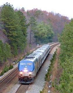 Amtraktrein in de Verenigde Staten van Amerika
