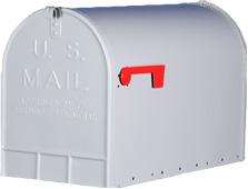 US mailbox jumbo grijs