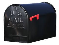 US mailbox jumbo zwart