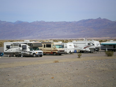Camper (RV) in Death Valley
