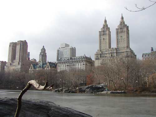 Central Park: uitblik op Manhattan