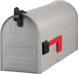 De klassieke US mailbox grijs