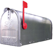 Zilveren Amerikaanse brievenbus