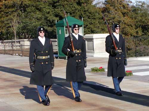Wisseling van de wacht op Arlington National Cemetery