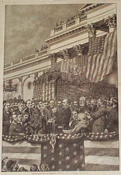 Afbeelding van de inauguratie van James Garfield