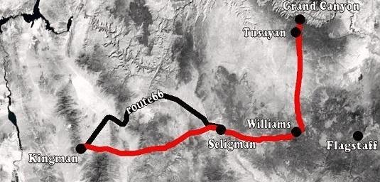 Grand Canyon naar Kingman