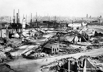 Verwoesting als gevolg van de grote brand van 1871