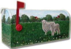 Handbeschilderd met schaapjes