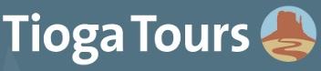 Tioga Tours logo voor Amerika reizen op maat