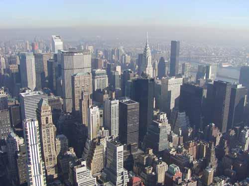 Zicht op een deel van Manhattan vanaf het Empire State Building