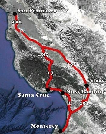 Monterey naar San Francisco