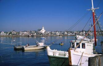 Uitzicht op Newport, Rhode Island