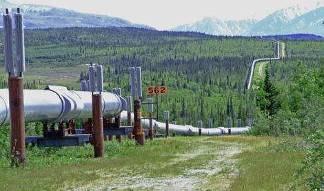 Oliepijplijn in Alaska