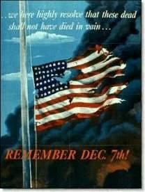 Herinneringsposter aan Pearl Harbor uit 1942