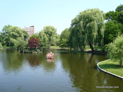 De Public Garden in Boston