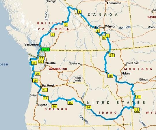 Rondreis beginnend in het noordwesten
