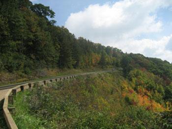 Weg in de Smoky Mountains
