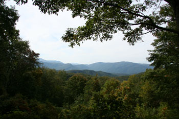 Uitzicht op de Smoky Mountains