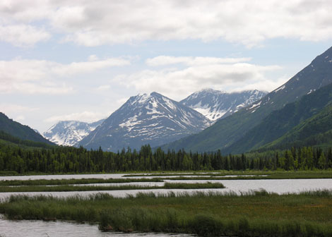 Tern Lake in Kenai National Park in Alaska