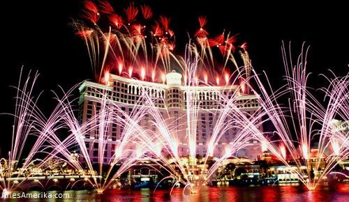 Vuurwerk in Las Vegas, Nevada
