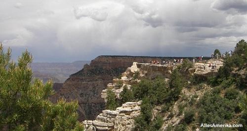 Veranderlijk weer in de Grand Canyon