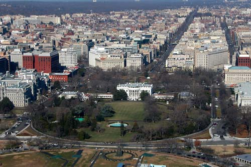 Blik op het Witte Huis in Washington DC