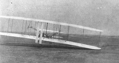 De Wright broers vliegen