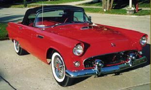 Amerikaanse auto: Ford Thunderbird uit 1955