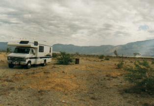 De camper in Death Valley in Amerika