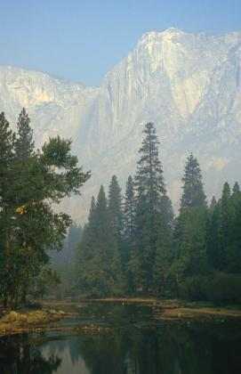 Blik op Yosemite in Californië
