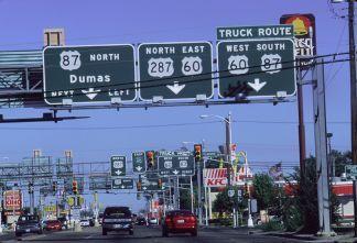 Verkeersborden in Amarillo