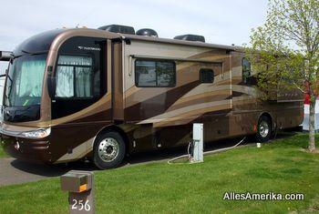 A-class camper met slide-out