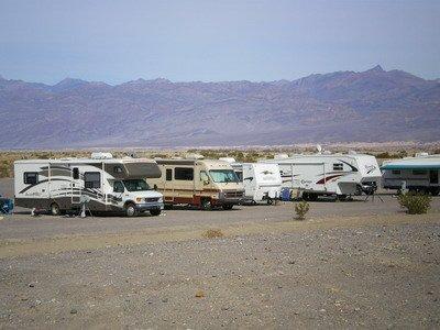Camper (RV) in Death Valley