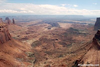 Uitzicht op Canyonlands