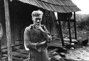Arme boer in Wisconsin tijdens de Grote Depressie (1935)
