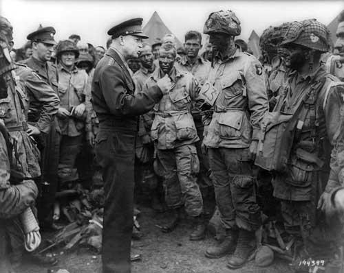 Eisenhower tijdens D-Day