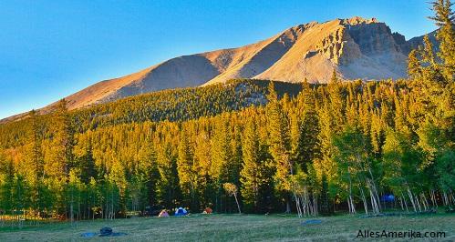 Kamperen in Great Basin National Park in Nevada