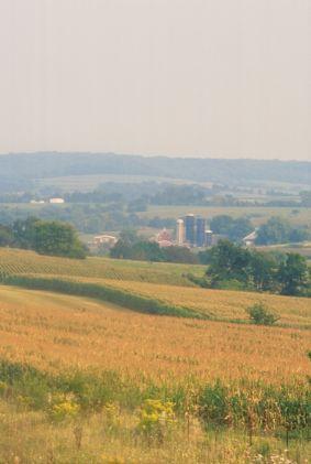 Landbouwgebied in Illinois