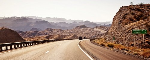 Amerikaanse highway nabij Las Vegas