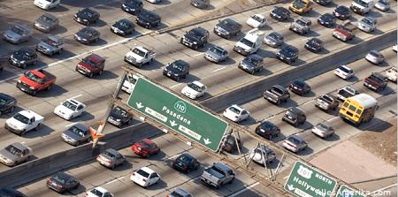 Snelweg (freeway) in Los Angeles