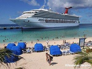Cruiseschip nabij Miami