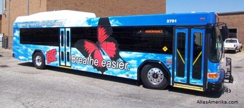 Hybride bus in Amerika