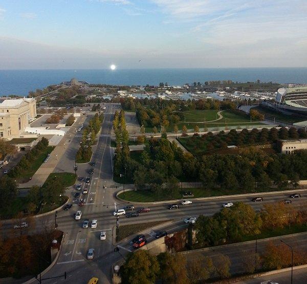 Het uitzicht vanaf het dak van het gebouw waarin we logeerden