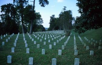 De begraafplaats voor gevallen Burgeroorlogsoldaten bij Vicksburg